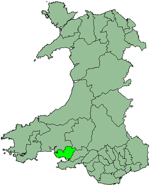 District of Llanelli - Image: Wales Llanelli 1974