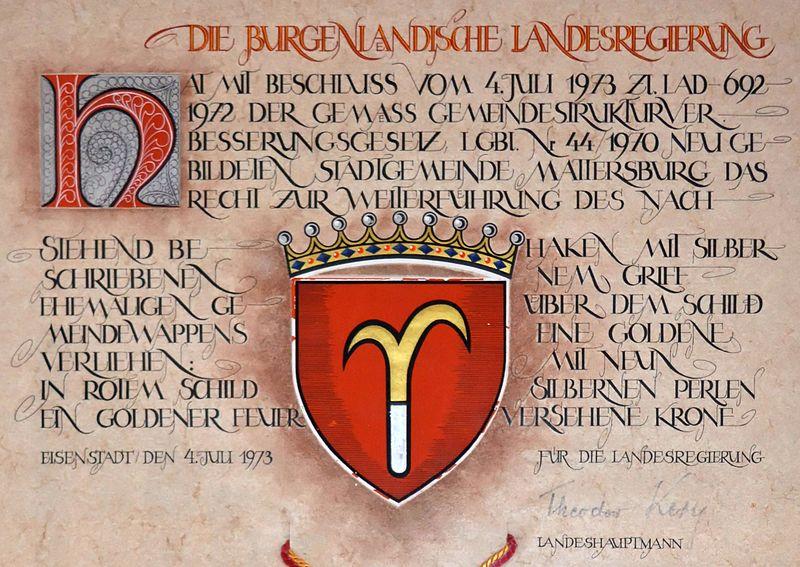File:Wappenverleihungsurkunde Mattersburg 1973 (Textteil).jpg