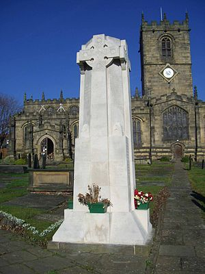 Church of St Mary, Ecclesfield - The war memorial outside the church