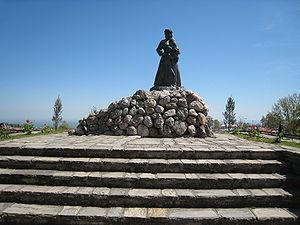 Naousa massacre - Image: War Memorial in Naoussa, Imathia, Greece