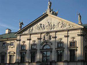 Marcus Valerius Messalla Corvinus - The triumph of Corvinus in the pediment of the Krasiński Palace in Warsaw
