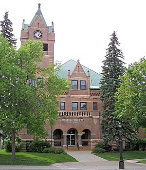 Waseca, Minnesota - The Waseca County Courthouse in 2007