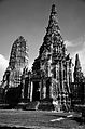 Wat Chaiwatthanaram black and white.jpg