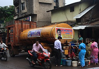 Water supply - Water from taps - supplied by a truck