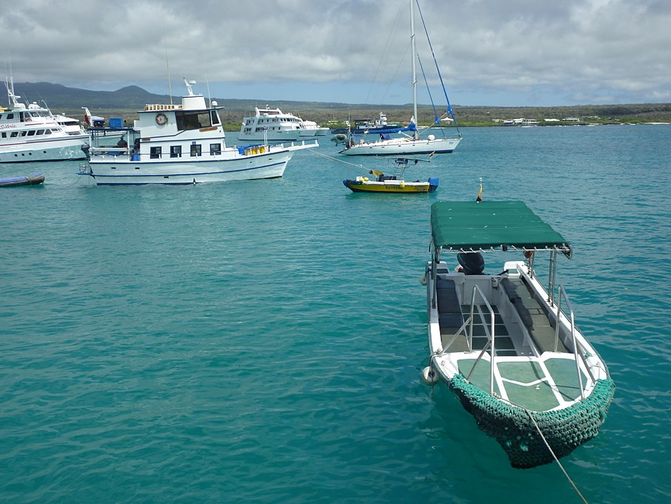 Water taxi in Puerto Ayora on the Island of Santa Cruz in the Galapagos photo by Alvaro Sevilla Design