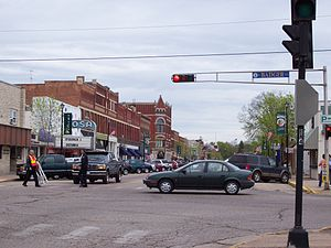Waupaca, Wisconsin - Looking north at Waupaca during sesquicentennial celebration on May 5, 2007