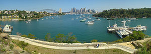 Waverton, New South Wales - View of Sydney from Waverton