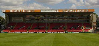 Welford Road Stadium - Mattioli Woods stand, previously known as the Alliance and Leicester Stand