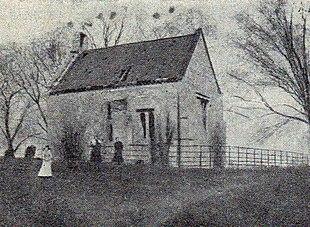 West Burton Church, c. 1885, shortly before its demolition