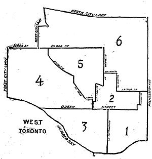 Toronto West (provincial electoral district) - Toronto West riding, created in 1894