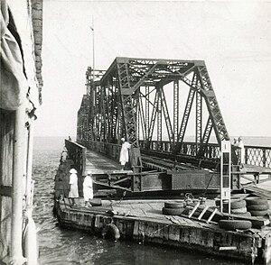 Goz Abu Goma Bridge - Image: White Nile railway swing bridge at Kosti, Sudan