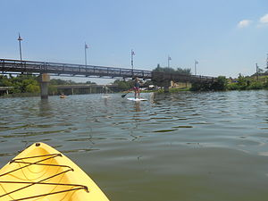 White Rock Lake - Canoeing and paddle boarding on White Rock Lake, TX, July 2014