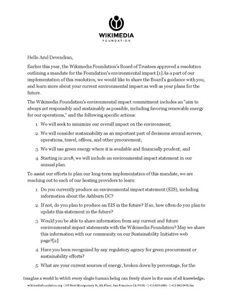 File:Wikimedia Foundation letter to Equinix re green hosting.pdf