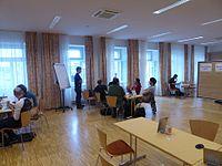 Wikimedia Hackathon Vienna 2017, MCR kickoff 1.jpg