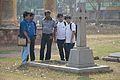 Wikimedia Kolkata Team Studying James Peddie Grave - St Johns Churchyard - West Midnapore - 2015-02-25 6120.JPG