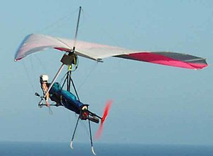 Powered hang glider - A foot-launched powered hang glider