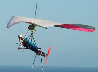 Powered hang glider Foot-launched powered hang glider