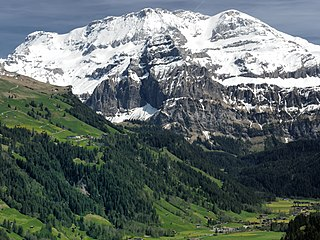 Wildstrubel mountain of the Bernese Alps