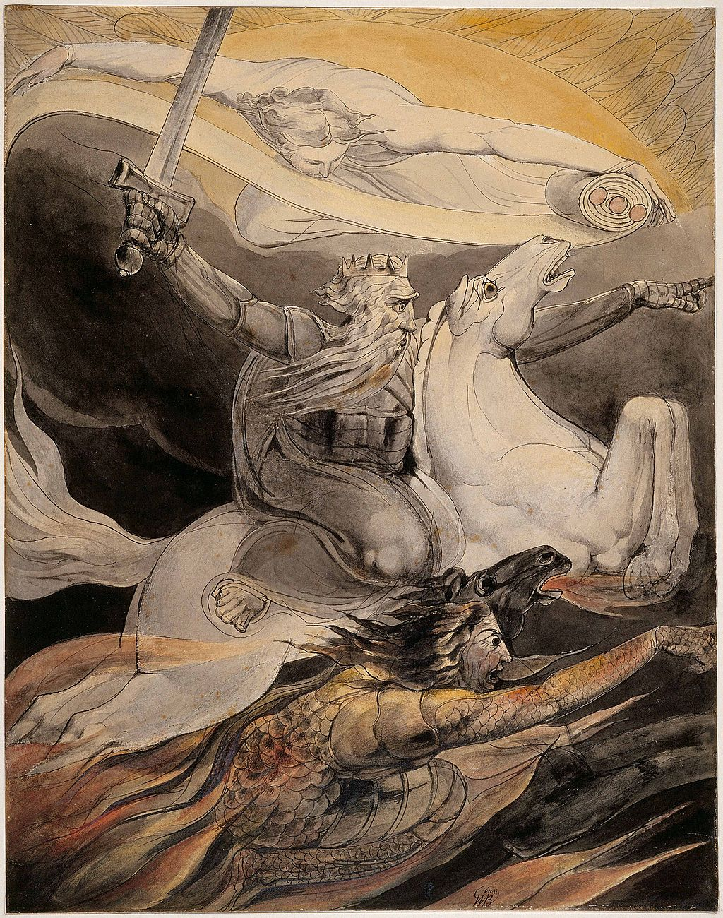 William Blake - Death on a Pale Horse - Butlin 517