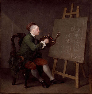 Hogarth Painting the Comic Muse - The painting