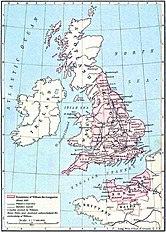Dominion of William the Conqueror around 1087
