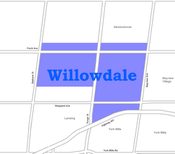 Location of Willowdale