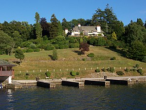 Broad Leys - Broad Leys house, today headquarters of the Windermere Motor Boat Racing Club