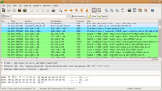 Network forensics - Wireshark, a common tool used to monitor and record network traffic