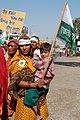 Woman and child at farmers rally, Bhopal, 2005.jpg