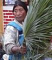Woman with Frond in Market - San Cristobal de las Casas - Chiapas - Mexico (15476558147).jpg