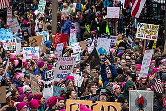 Largest protests in American history - Image: Women's March on Washington (32103990670)