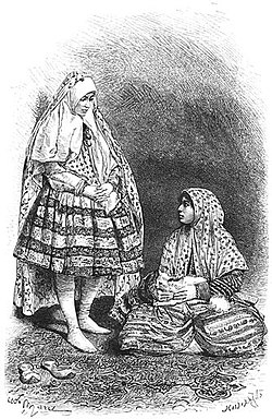 Women from Shiraz as seen by Jane Dieulafoy in 1881.jpg