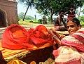 Women with the Manasa Silamurti at Birbhum in 2021.jpg