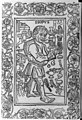 Woodcuts used to illus. Fables from incunabula...1966- Aesop surrounded by symbols of fables, 1481 - -60 LCCN2007681459.jpg