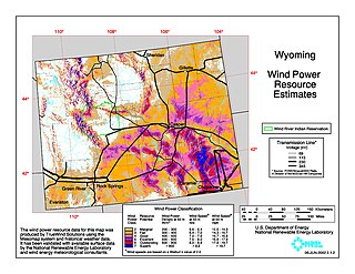 Wind power in Wyoming Electricity from wind in one U.S. state