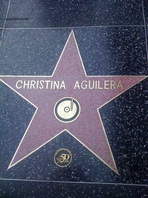 Xtina star walk of fame