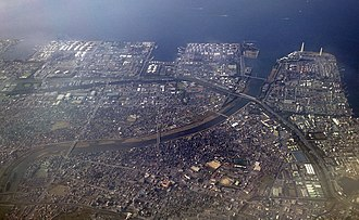 Keiyō Industrial Zone - Image: Yōrō River and Port of Chiba 01