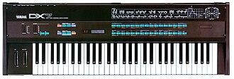 Yamaha DX7 - Yamaha DX7  Digital programmable algorithm synthesizer