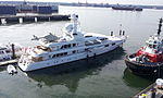 Yacht Méduse - Tug Seaspan Eagle on right - Vancouver, British Columbia, Canada - 16 July 2012.jpg