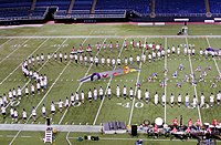 A band practicing for their 2007 performance in the HHH Metrodome