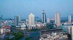 市街地の鳥瞰