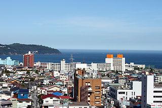 Yugawara Town in Kantō, Japan