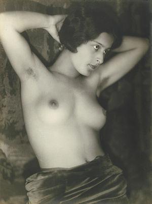 Yva - Image: Yva (attr) Female semi nude 1920s