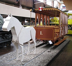 Trams in Zagreb - Horsecar replicas at the Technical Museum in Zagreb
