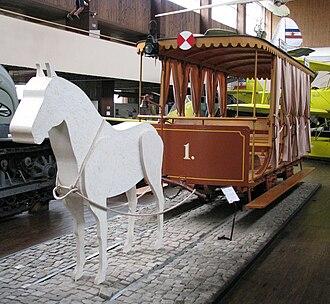 Trams in Zagreb - Horsecar replicas at the Technical Museum in Zagreb