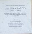 Zelenka László emléktáblája, Budapest, XI., Ulászló utca 38..png