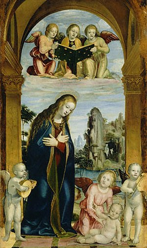 Bernardo Zenale - Bernardo Zenale, Adoration of the Child, Getty Museum