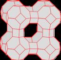 Struktur von Zeolith A