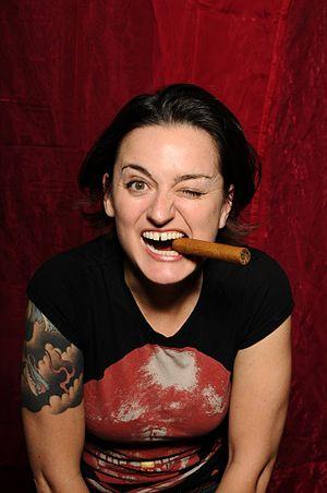 Zoe Lyons - Image: Zoe Lyons Cigar Wink High Res