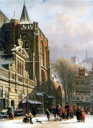 Cornelis Springer - Image: Zwolle sint michaelskerk cornelis springer